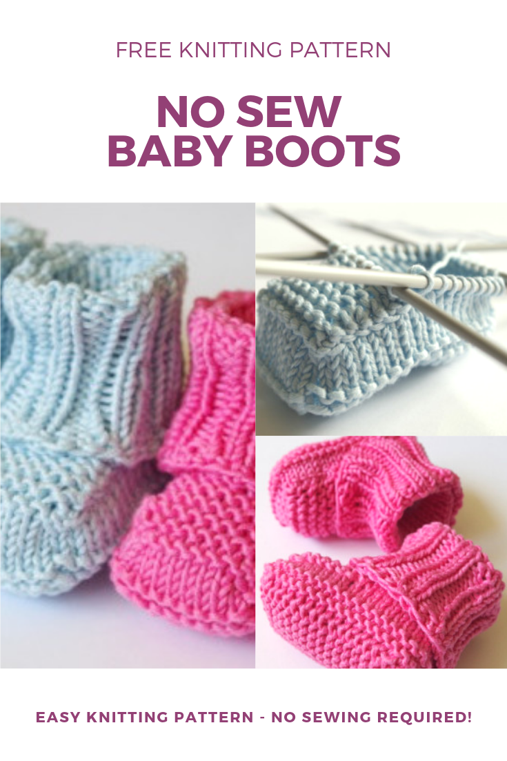 No sew knitted baby booties pattern | Knitting Blog ...