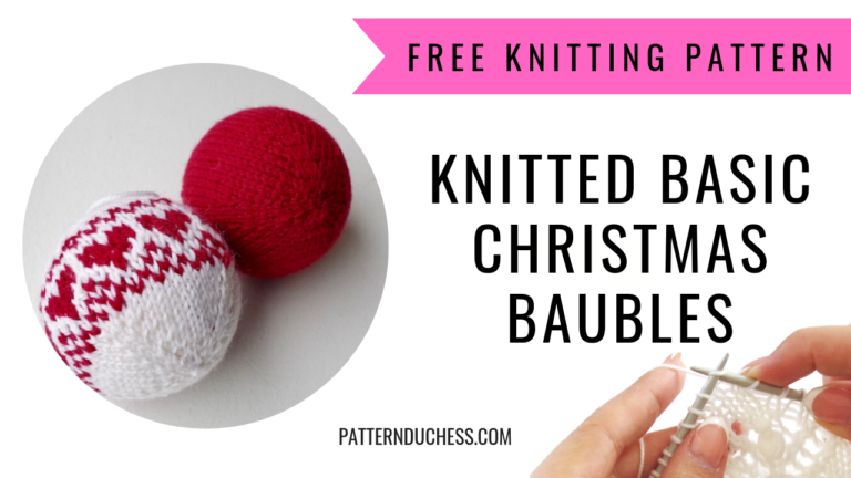 Read more about the article How to knit easy Christmas balls