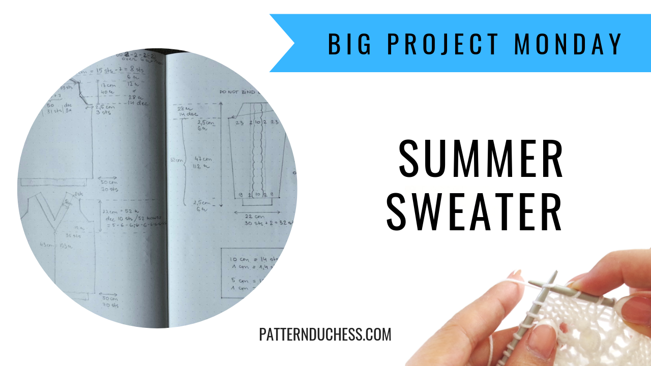 Summer sweater knitting project (part 1)
