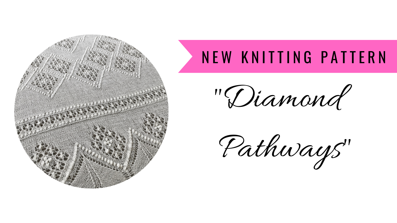"""Read more about the article Lace shawl pattern """"Diamond Pathways"""""""