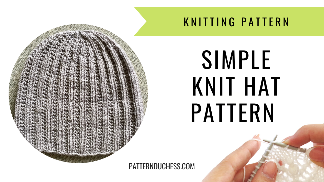 Read more about the article Simple knit hat pattern