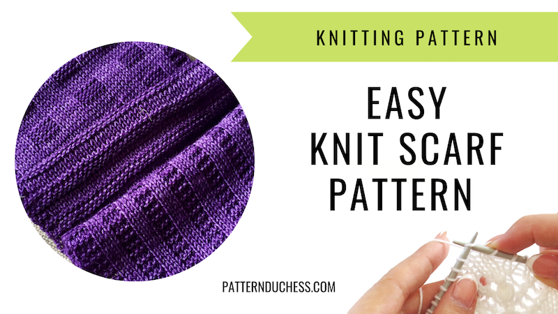 easy knit scarf pattern for beginners