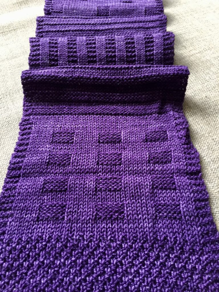 easy knitting pattern for a scarf