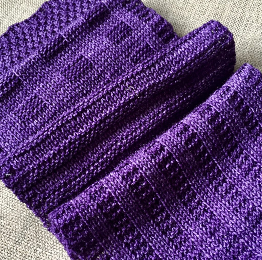 knit scarf pattern with Malabrigo Sock yarn